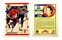 Jeremy Roenick Signed 1990-91 Score #179 RC Card Chicago Blackhawks HOF Auto