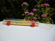 ♥ Xylophone En Bois Fisher Price Toys Vintage Authentique Année 1964 Réf: 870