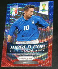 2014 Prizm World Cup Stars Roberto Baggio BWR Wave Italy Refractor #44 a