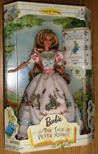 NEW Barbie The Tale of Peter Rabbit Doll 1997  Beatrix Potter with book