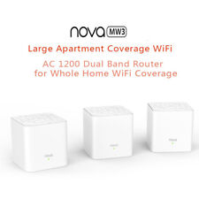 1/2/3 Pack Tenda Nova MW3 AC1200 Wireless Router Whole Home Mesh Wifi System