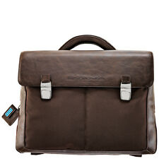 Piquadro Frame Brown Organized briefcase with two gussets CA1044FR/M