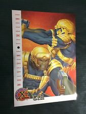 X-MEN FLEER ULTRA card nr 81  CIA  WOLVERINE TIMELINE  MARVEL CHROME