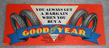 graphic paper blotter advertising Goodyear Tires