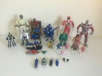 Large Bundle of Power Rangers Action Figures Playset Mighty Morphin Dino Thunder