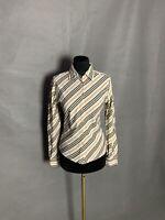 Burberry  London Nova Check Women's Beige Striped Shirt Size S