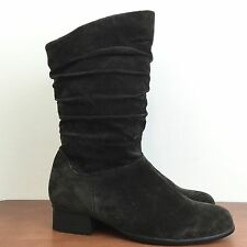 Women's FANFARES Suede Leather Boots Lightweight Low Heel Size 6 M