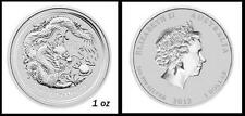 2012 Perth Mint 1oz Lunar Dragon Silver Bullion Coin 99.9% Pure + FREE POUCH!
