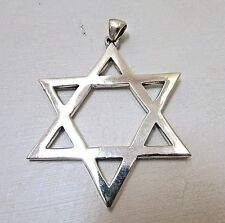 Extra Large Classic Star of David Pendant, 925 Sterling Silver, 2 1/2 inch Charm