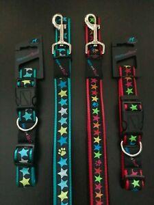 STARS HEM AND BOO DOG &CO NYLON CLIP COLLAR or PADDED HANDLE LEAD-NutsAb't Mutts