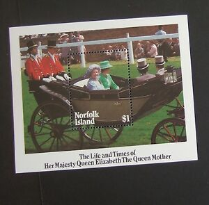 Norfolk Island 1985 85th Birthday Queen Mother MS  MNH UM unmounted mint