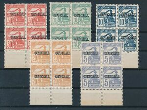 [G84528] Honduras 1989 good set in block of 4 official stamps very fine MNH $48