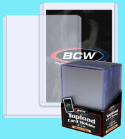 25 BCW 59pt 1.5MM THICK TOPLOADERS Trading Card Holder Sport Topload Rigid Patch