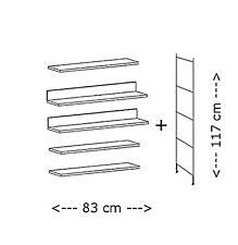 BALTON  Erweiterung Set für Regal 85 cm schwarz rechts links montierbar