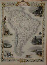 SOUTH AMERICA BY JOHN TALLIS 1850.