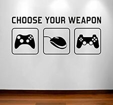 Game Nerds Ps4 Xbox One Funny Sticker Decal Room Decor Choose Your Weapon Gamer