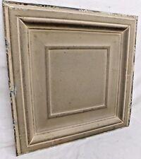 "24"" x 24"" Antique Tin Ceiling Tile - C. 1890 Framed Design Architectural Salvage"