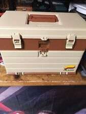 Vintage Plano 757 Fishing Tackle Box 4 Adjustable Drawers Top Storage VERY CLEAN
