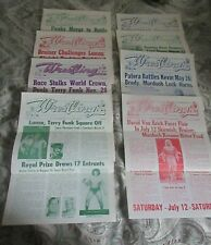8 St Louis Wrestling Club Programs, 1976-80 Funk,Race,Hayes,Flair,Andre Giant
