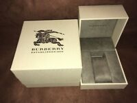 Authentic Burberry Watch Box w/ Case Pillow Cover EMPTY - rip on corner
