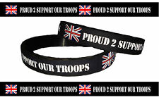 proud 2 support our troops wristband supporting the soldiers charity - Support Our Troops Silicone Bracelet