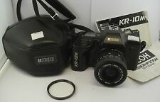 Ricoh KR-10M Film Camera + 1:3.4-4.5 35-70mm Lens + Manuals + Case + Filter