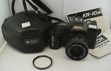 Ricoh KR-10M Film Camera + 1:3.4-4.5 35-70mm Lens + Manuals + Case + Filter
