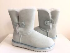 UGG BAILEY BUTTON II METALLIC ICEBERG WOMEN BOOT USA 7 / EU 38 / UK 5.5 NIB