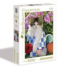 Clementoni - Puzzle collezione alta qualità Tabby Kitten, 1000 pezzi
