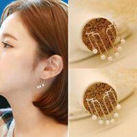 Fashion 1 Pair Women Lady Girsl Elegant Pearl Ear Stud Dangle Earrings Jewelry