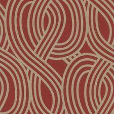 Rollos de papel pintado liso de color principal rojo sin anuncio de conjunto