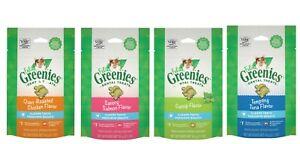 Greenies FELINE Cat Dental Treat Asst Flavor 2.1 oz   Free Shipping