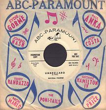 "NICOLA PAONE - Umbrellaro / Mulberry Street (1960 US VINYL PROMO SINGLE 7"")"
