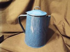 Blue Enamelware Coffee Pot/Percolator