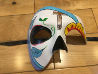 Uni-sex cracked cream Venetian Phantom//Half face Mask.Masquerade //Ball //Prom.UK