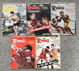 Boxing - 'The Ring' Magazine - 10 Issues - 1962