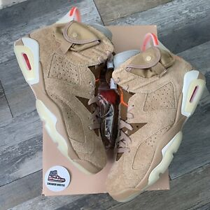 Nike Air Jordan 6 Retro Travis Scott British Khaki DH0690-200 Size 9