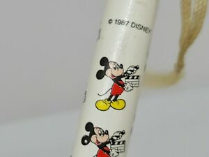 """Vtg 1987 MICKEY MOUSE DISNEY Jumbo Pencil NEW 11"""" Movie Clapperboard Japan Cover"""
