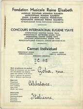 FM132_Documento:Fondation musicale reine elisabeth,carnet individuel GOLIA MARIA