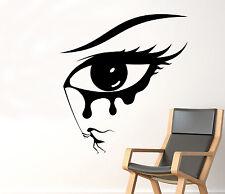 Girl Eyes Wall Decal Beauty Makeup Vinyl Sticker Removable Home Art Decor 85nse