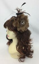Brown Fascinator Melbourne Cup Fascinate Spring Races Party Wedding