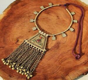 Boho Gypsy Ats Handmade Banjara Tribal Vintage Kuchi Afghan Pendant Necklace