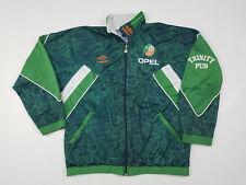 Ireland FAI Umbro Track Jacket Men's Large Warm Up Sweatshirt Vintage 90s Rare