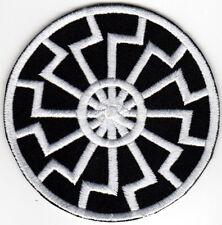 BLACK SUN SONNENRAD IRON ON PATCH thor runes asatru viking odin norse mythology