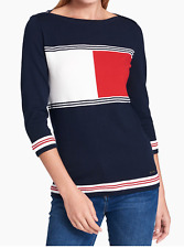 New TOMMY HILFIGER Women' Sweater Flag Logo Size S
