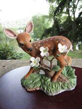 Vintage 1992 Lenox Porcelain Figurine- Afternoon Splendor- White Tailed Deer