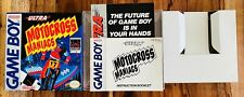 🔥Motocross Maniacs Nintendo Gameboy GB Box and Manual ONLY