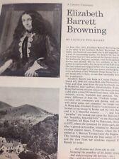 Ephemera 1961 Article Literary Centenary Elizabeth Barrett Browning M486