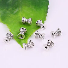Loose Charm Jewelry Finding 6x5mm 30pcs Silver Hourglass Shape Spacer Beads
