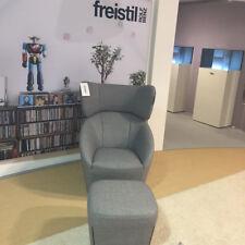 Sessel und Hocker Freistil 178 by Rolf Benz in Stoff grau UVP 1.710,00